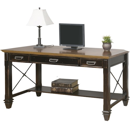 kathy ireland Home by Martin Hartford Writing Desk with 3 Drawers and Shelf