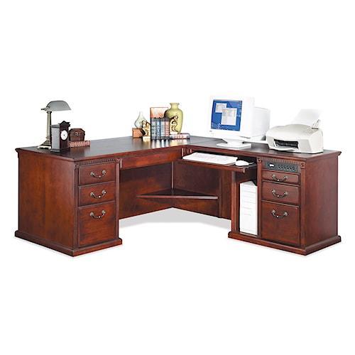 kathy ireland Home by Martin Huntington Club L-Shaped Corner Executive Desk