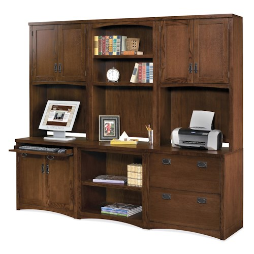 kathy ireland Home by Martin Mission Pasadena Mission Six Piece Wall Unit