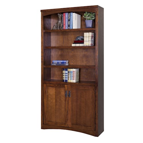kathy ireland Home by Martin Mission Pasadena Mission Lower Door Bookcase with Six Shelves