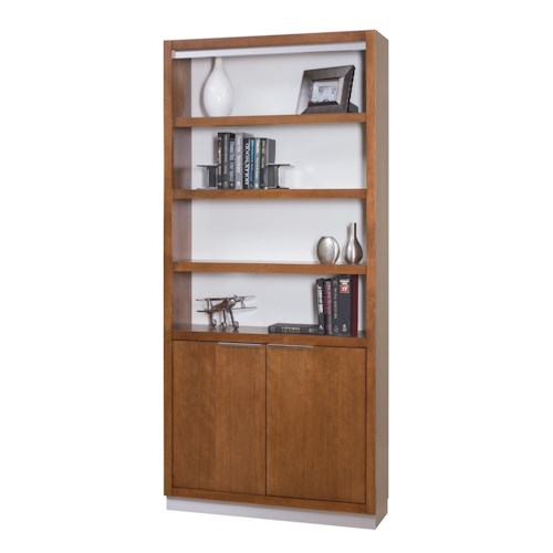 kathy ireland Home by Martin Monterey Contemporary Bookcase with Lower Doors