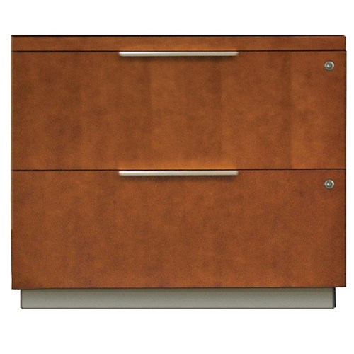 kathy ireland Home by Martin Monterey Contemporary Locking Two Drawer Lateral File