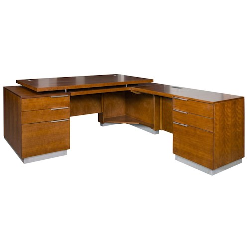 kathy ireland Home by Martin Monterey Contemporary Right Hand Facing L-Shaped Desk