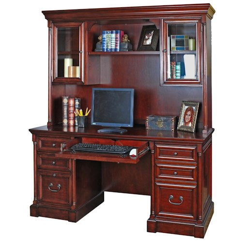 kathy ireland Home by Martin Mount View Traditional Efficiency Credenza and Hutch