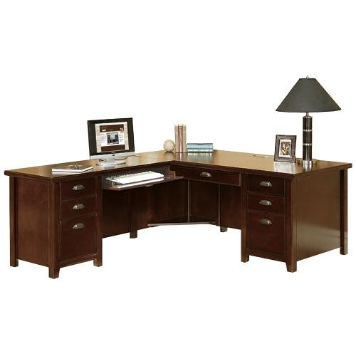 kathy ireland Home by Martin Tribeca Loft L-Shaped Left Hand Facing Executive Desk with Keyboard Return