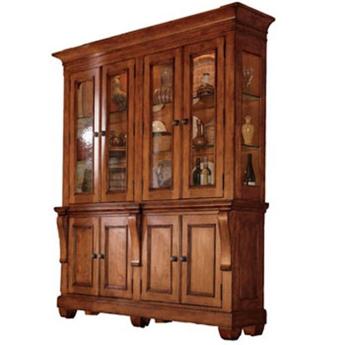 Kincaid Furniture Tuscano Two Piece China Hutch