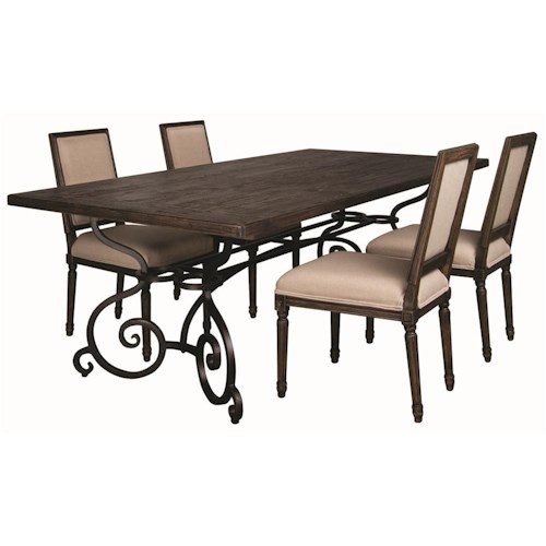 Morris Home Furnishings Middleburg 5 Piece Dining Set