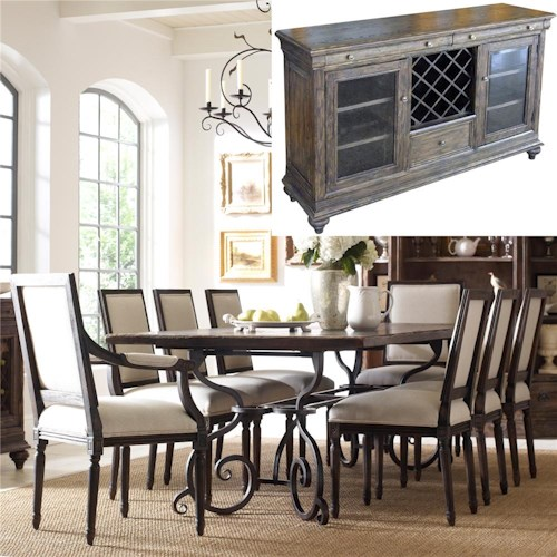 Kincaid Furniture Artisan's Shoppe Dining 8Pc Dining Room