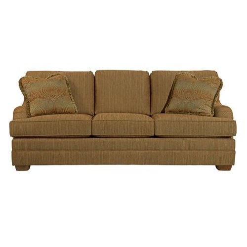 Kincaid Furniture Alexandria Stationary Sofa with Accent Pillows