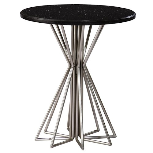 Kincaid Furniture Alston Round Accessory Table with Granite Top