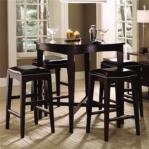 Kincaid Furniture Alston Round Bistro Table & Four Bistro Stool