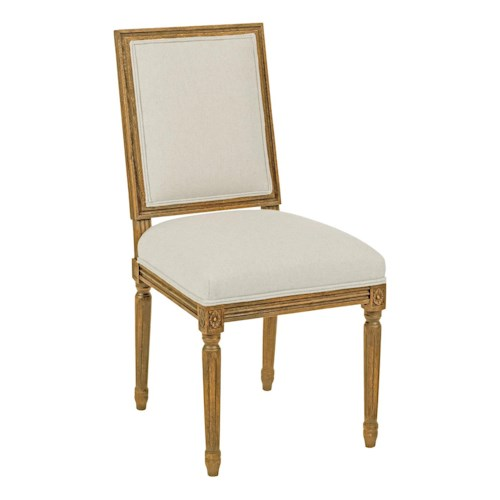 Kincaid Furniture Artisans Shoppe Accents Traditional Upholstered French Dining Side Chair