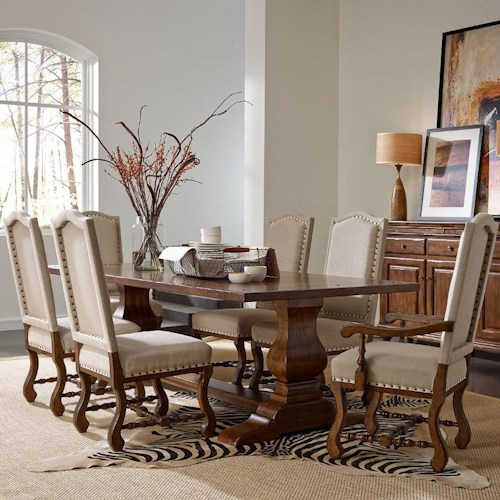 Kincaid Furniture Artisan's Shoppe Dining Traditional Seven Piece 94