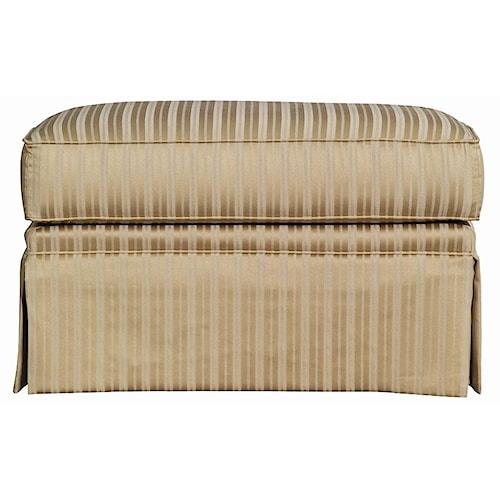 Kincaid Furniture Baltimore Upholstered Ottoman with Skirted Base