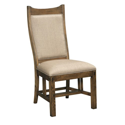Kincaid Furniture Bedford Park Craftsman Side Chair with Seat and Back Upholstered in Sunbrella Fabric