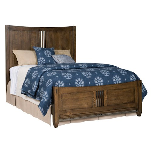 Kincaid Furniture Bedford Park King Craftsman Bed with Pierced Headboard and Footboard Detail