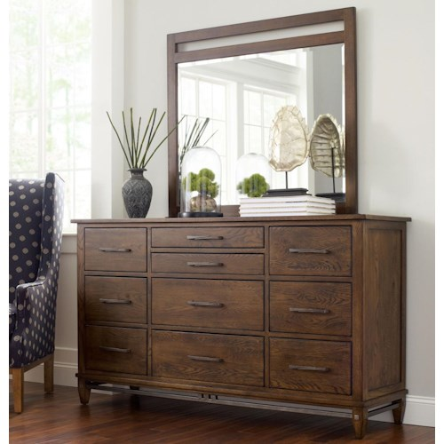 Kincaid Furniture Bedford Park Wheaton Solid Wood Dresser and Mirror Set
