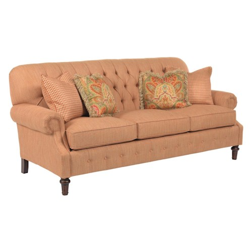 Kincaid Furniture Berkshire Rolled Arm Sofa with Button Tufting