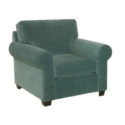 Kincaid Furniture Brannon Rolled Arm Upholstered Chair