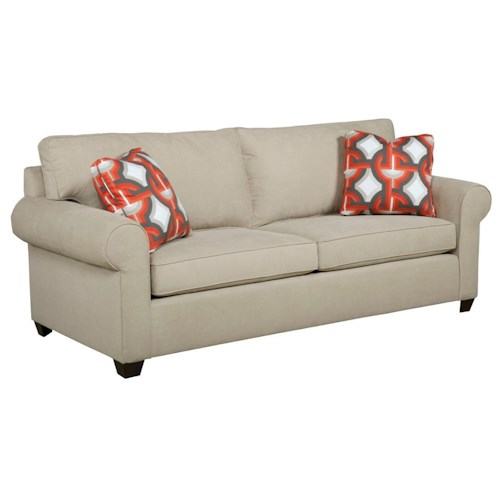 Kincaid Furniture Brannon Transitional Rolled Arm Sofa