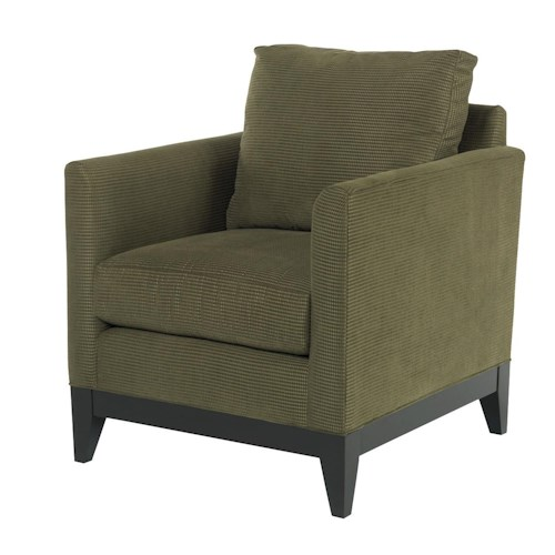 Kincaid Furniture Brooklyn Contemporary Chair with Exposed Wood Trim