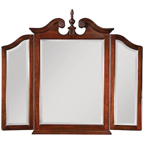 Kincaid Furniture Carriage House Tri-View Broken Pediment Mirror