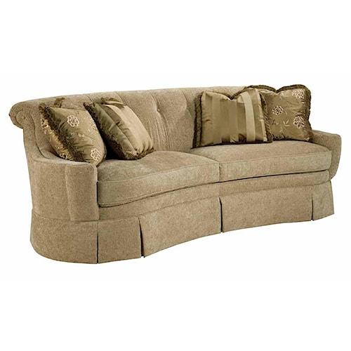 Kincaid Furniture Carson Button Tufted Skirted Sofa