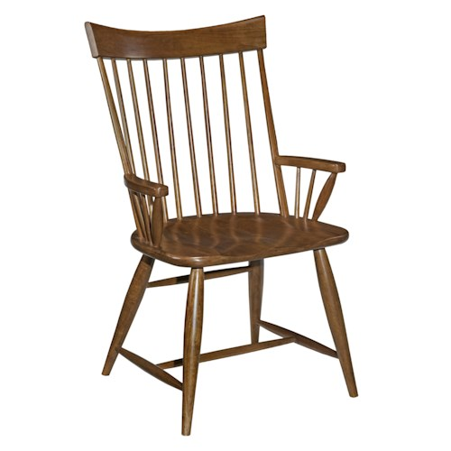 Kincaid Furniture Cherry Park Solid Cherry Windsor Arm Chair