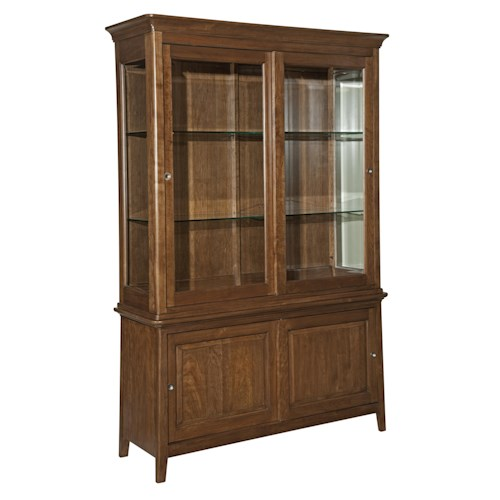 Kincaid Furniture Cherry Park Base and Deck China Cabinet