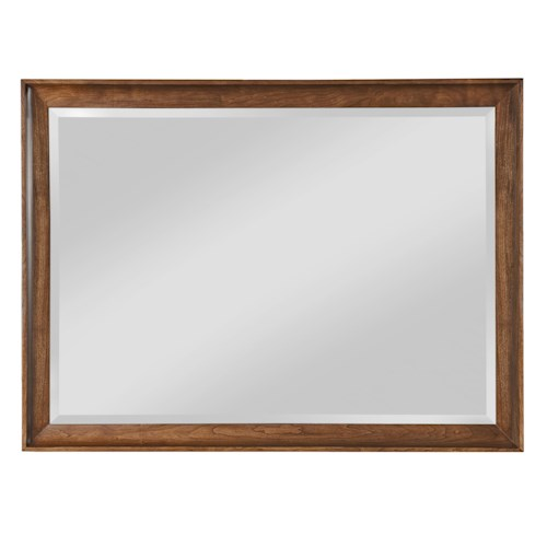 Kincaid Furniture Cherry Park Cherry Wood Framed Landscape Mirror