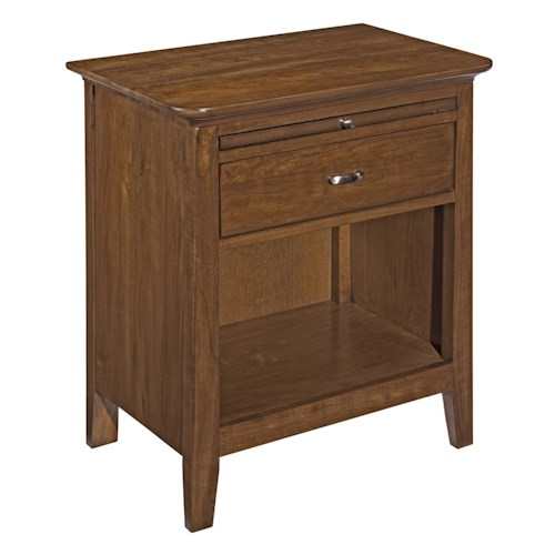 Kincaid Furniture Cherry Park One Drawer Open Nightstand
