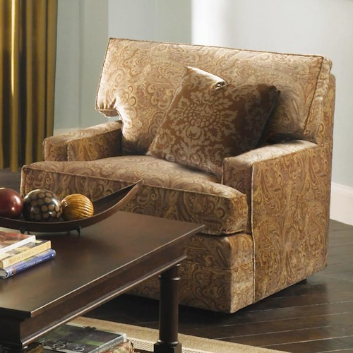 Kincaid Furniture Custom Select Upholstery Custom Upholstered Chair with Track Arms
