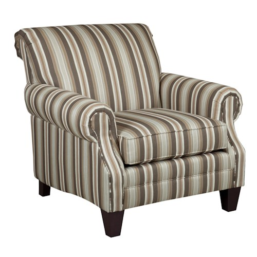 Kincaid Furniture Destin Upholstered Rolled Arm Chair
