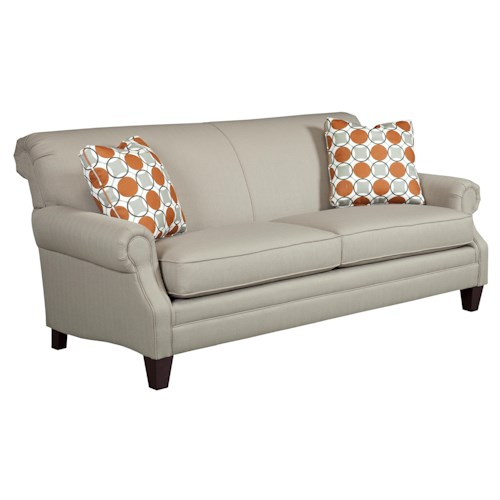 Kincaid Furniture Destin Rolled Arm Stationary Sofa