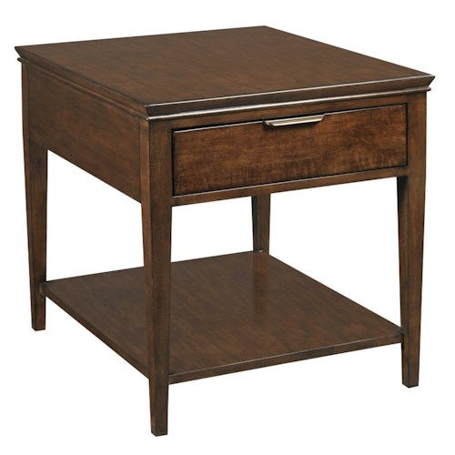 Kincaid Furniture Elise Transitional End Table with One Drawer