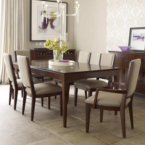 Kincaid Furniture Elise Seven Piece Dining Set with Upholstered Chairs