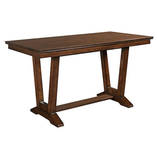 Kincaid Furniture Elise Stella Double Pedestal Counter Table