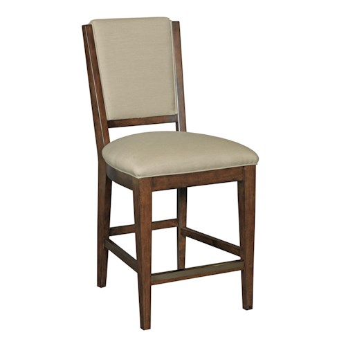 Kincaid Furniture Elise Transitional Spectrum Counter Height Chair with Performance Fabric Upholstery