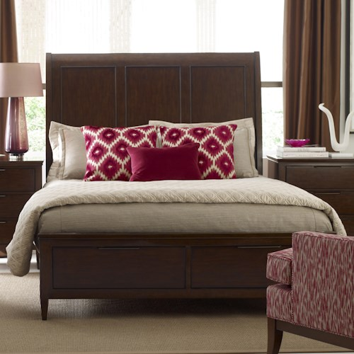 Kincaid Furniture Elise Caris King Sleigh Bed with Storage Footboard