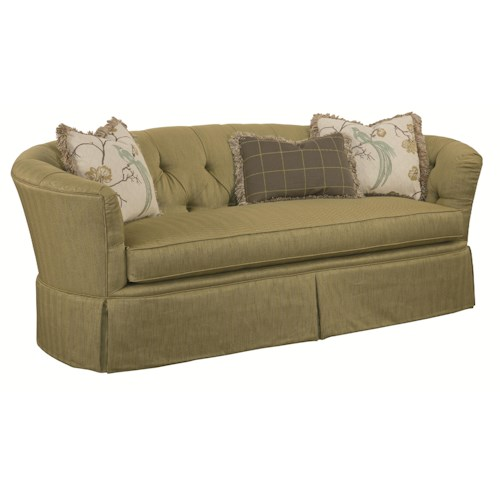 Kincaid Furniture Elm Park Button Tufted Sofa