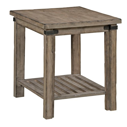 Kincaid Furniture Foundry Rustic Weathered Gray End Table