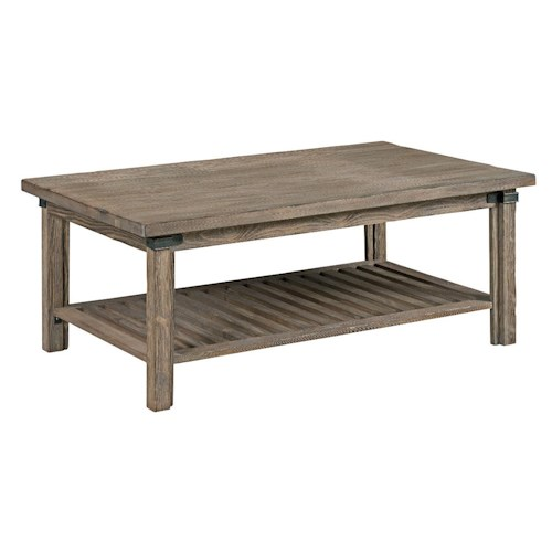 Kincaid Furniture Foundry Rustic Weathered Gray Rectangular Cocktail Table