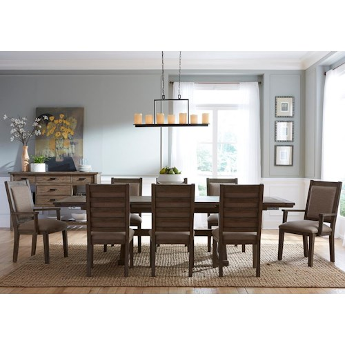 Kincaid Furniture Foundry Nine Piece Rustic Dining Set