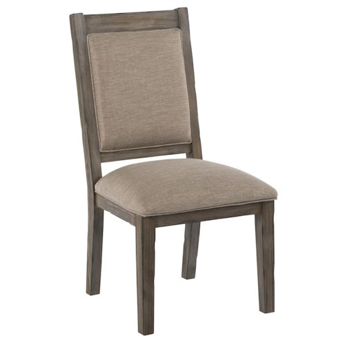 Kincaid Furniture Foundry Upholstered Side Chair with Weathered Gray Finish