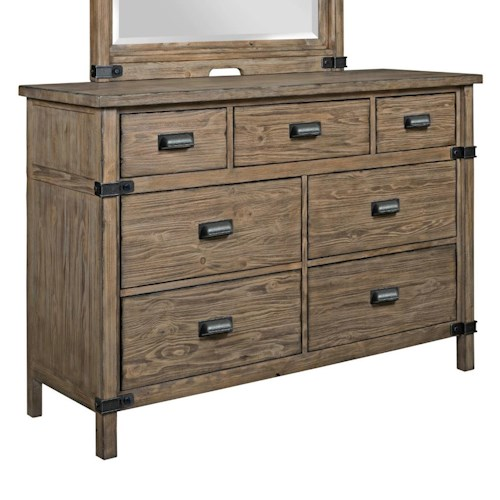 Kincaid Furniture Foundry Rustic Weathered Gray Bureau with Drop-Front Media Drawer