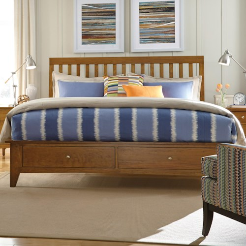 Kincaid Furniture Gatherings King Slat Bed with Storage Footboard