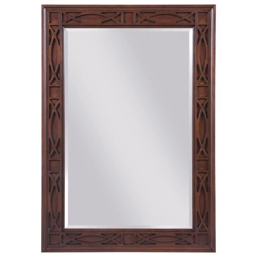 Kincaid Furniture Hadleigh Traditional Rectangular Mirror with Decorative Relief Carving