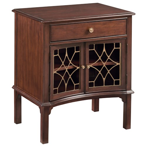 Kincaid Furniture Hadleigh Traditional Bedside Table with Display Shelf
