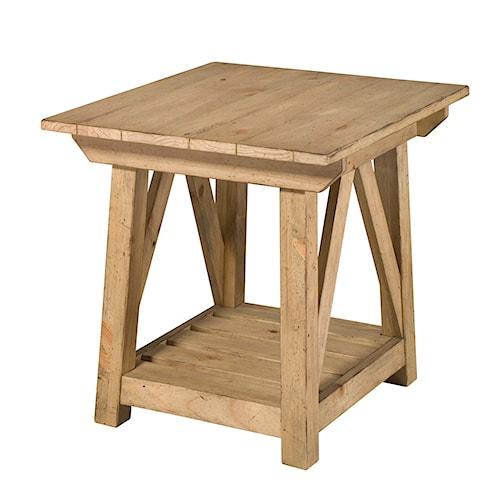 Kincaid Furniture Homecoming End Table with Bottom Shelf