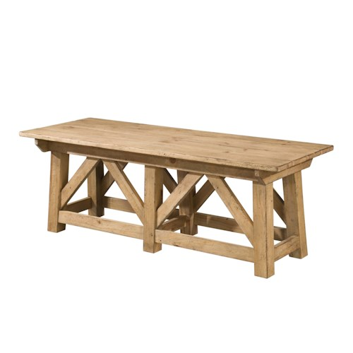 Kincaid Furniture Homecoming Craftsman Cocktail Table with Open Area Storage